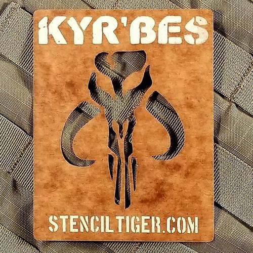 Kyr'bes Mandalorian Mythosaur Spray Paint Stencil Kit