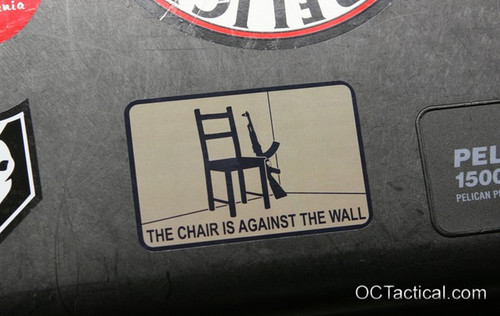 The Chair is Against the Wall Decal