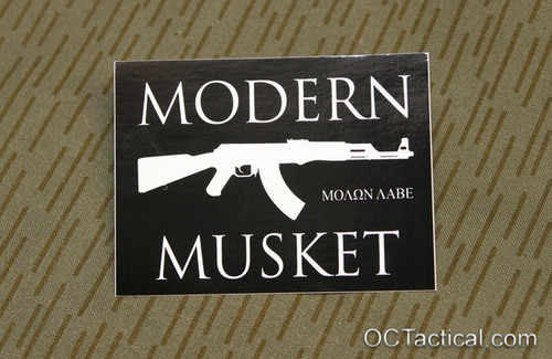 Modern Musket Molon Labe Decal (AK version)