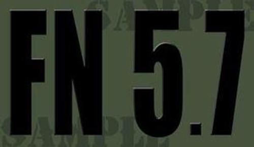 FN 5.7 Ammo Can Magnet - Black Font