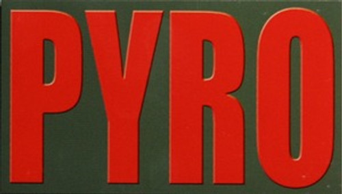 PYRO Ammo Can Magnet -Red Font