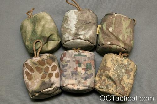 Top Row: A-Tacs FG, A-Tacs AU, Multicam Bottom Row: Kryptek highlander, Mirage, Badlands