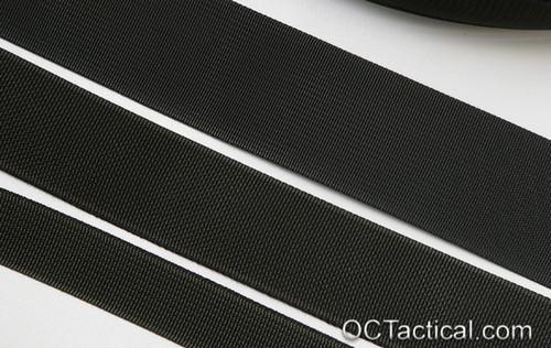 Black Nylon Webbing Solution Dyed
