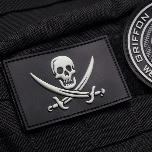 Calico Jack PVC Glow in the Dark Patch