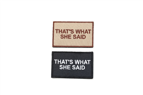 That's what she said Patch