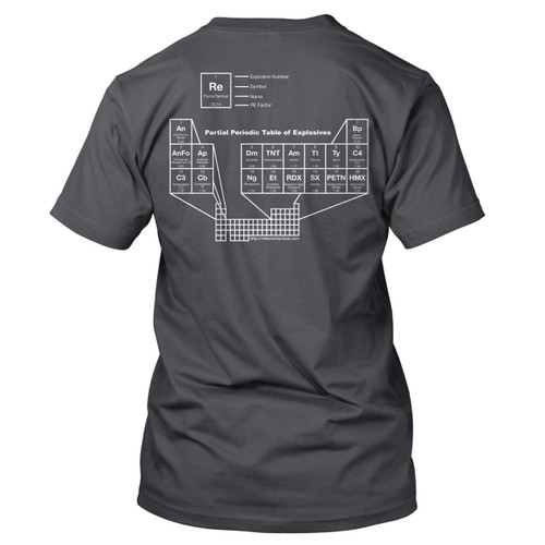 Periodic Table of Explosives T-Shirt