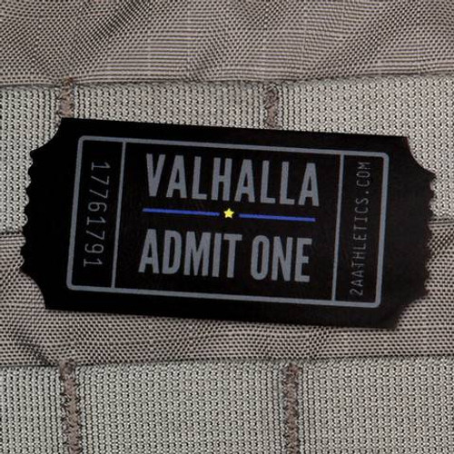 "Valhalla Admit One Sticker 2"" x 1"""