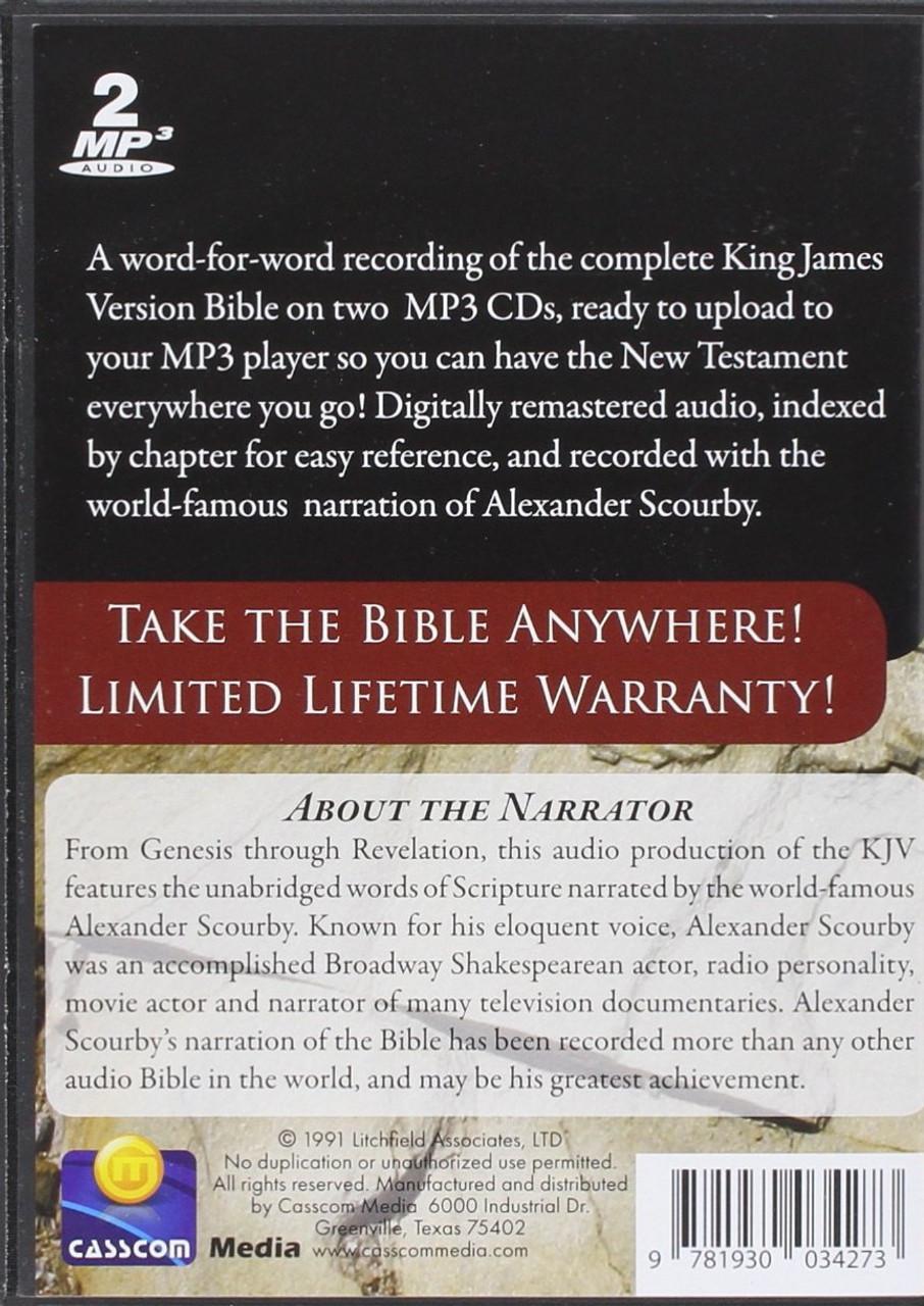 KJV Complete by Alexander Scourby (MP3) (2 Discs)