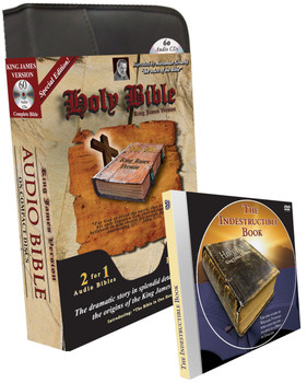 "KJV Complete Bible ""Special Edition"" (MP3/CD) with Indestructible Book DVD and Bible in One Hour"