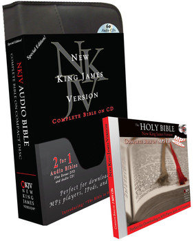 """NKJV Complete Bible """"Special Edition"""" (MP3/CD) with Indestructible Book DVD and Bible in One Hour"""