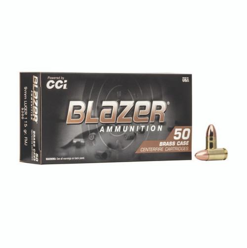 CCI 5200 Blazer Brass 9mm Luger 115 gr Full Metal Jacket (FMJ) 50rds