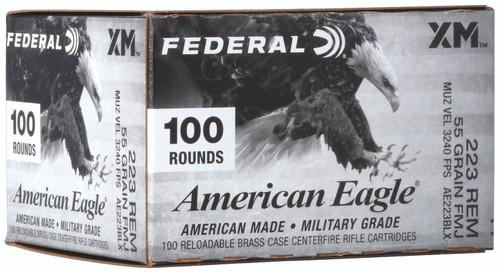 Federal AE223BLX American Eagle 223 Rem 55 gr Full Metal Jacket Boat Tail (FMJBT) 100rds