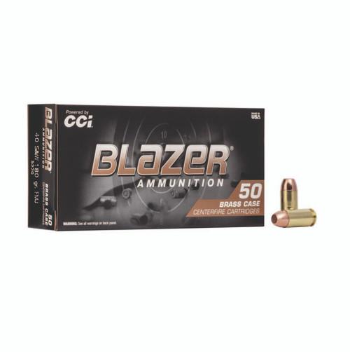 CCI 5220 Blazer Brass 40 S&W 180 gr Full Metal Jacket (FMJ) 50rds
