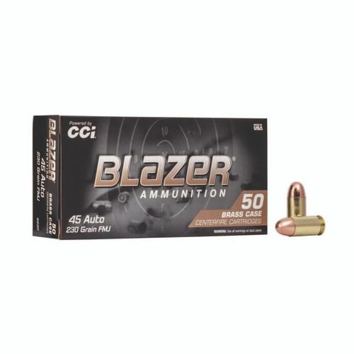 CCI 5230 Blazer Brass 45 ACP 230 gr Full Metal Jacket (FMJ) 50rds - NO LIMITS