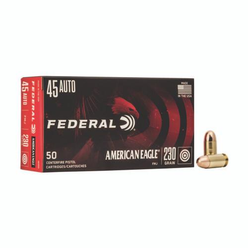 Federal AE45A American Eagle 45 ACP 230 gr Full Metal Jacket (FMJ) 50rds