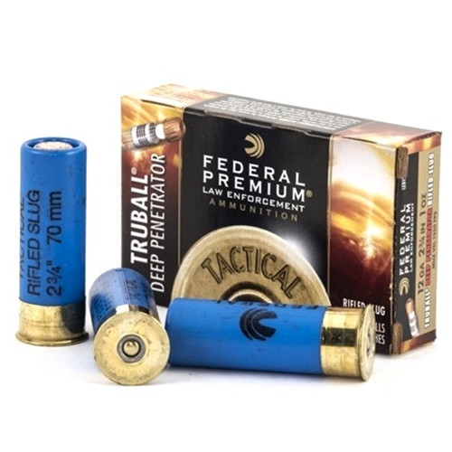 "Federal Law Enforcement 12 Gauge Ammo 2-3/4"" Tactical® TruBall® Deep Penetrator Rifled Slug - 5rds"