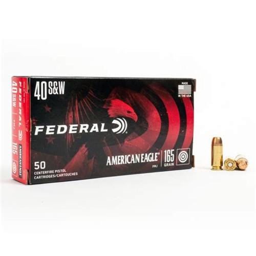 Federal AE40R3 American Eagle 40 S&W 165 gr Full Metal Jacket (FMJ) 50rds