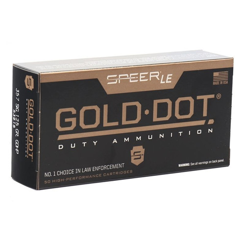 Speer Gold Dot LE Duty 357 SIG Ammo 125 Grain Jacketed Hollow Point - 50rds
