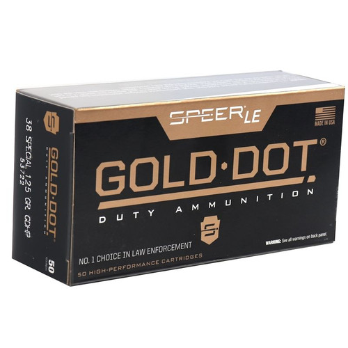 Speer LE 53722 .38 Special 125GR Gold Dot Hollow Point - 50RDS