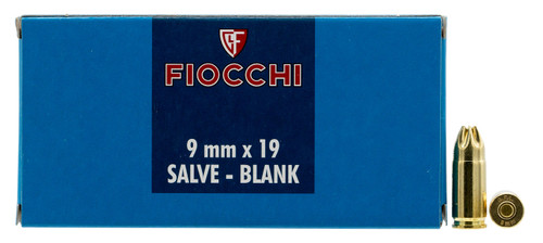 Fiocchi 9MMBLANK Pistol Blank 9mm Luger 50rds - BLANKS!