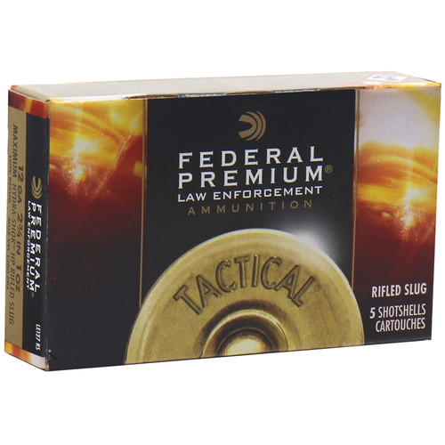 "Federal Law Enforcement LE127RS 12 Gauge Ammo 2-3/4"" Hydra-Shok Rifled Slug - 5rds"