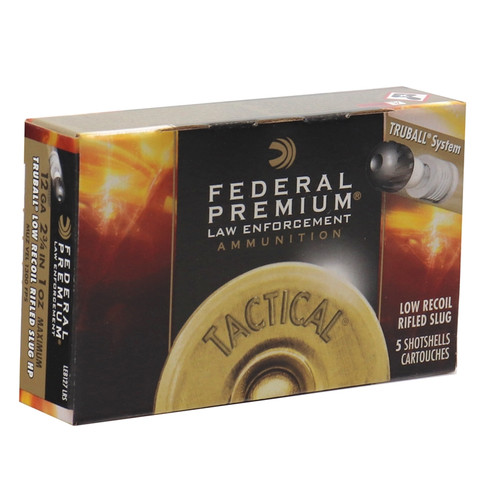 "Federal Law Enforcement 12 Gauge Ammo 2-3/4"" Tactical® TruBall® Rifled Slug Low Recoil - 5RDS"