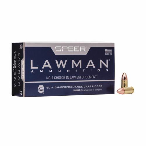 FULL CASE - Speer Ammo 53650 Lawman 9mm Luger 115 gr Total Metal Jacket (TMJ) 1000RDS