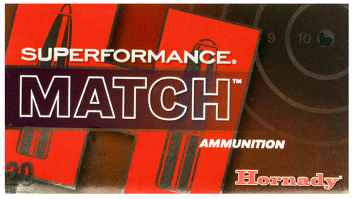 Hornady 80963 Superformance Match 308 Win 168 gr Extremely Low Drag-Match 20rds