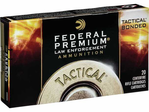 Federal Premium LE LE223T1 Tactical 223 Remington 55GR Bonded Soft Point Ammunition 20