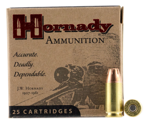 Hornady 90242 Custom 9mm Luger 124 gr XTP Jacket Hollow Point 25rds