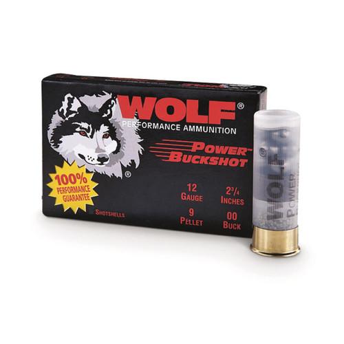 Case - Wolf Performance Ammunition 12GA Power Buckshot 00 2 3/4 - 120 rds