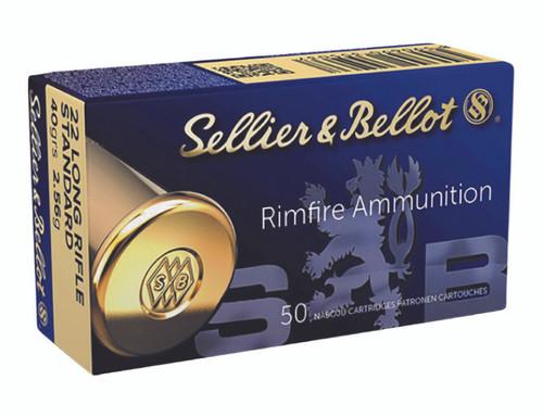 Sellier & Bellott Ammunition  40gr 22lr SB Starndard LRN - 50RD