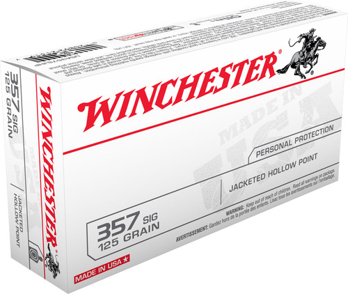 Winchester Ammo USA357SJHP USA 357 Sig 125 gr Jacketed Hollow Point (JHP) 50rds