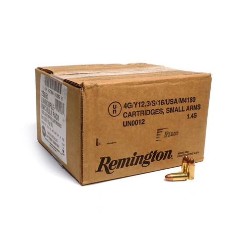 Remington Ammunition 23645 9mm Luger 115gr FMJ - 1000RD Case - SLIGHTLY DAMAGED RETAIL PACKAGING BECAUSE REMINGTON SUCKS AT SHIPPING CASES