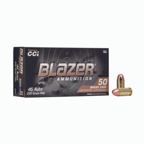 FULL CASE - CCI 5230 Blazer Brass 45 ACP 230 gr Full Metal Jacket (FMJ) 1000rds - NO LIMITS