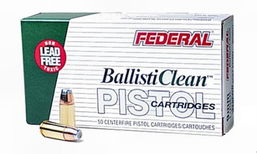 Federal BC9NT3 BallistiClean Lead-Free 9mm Luger 100 gr Lead Free Frangible 50rds