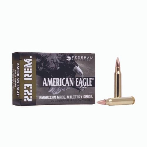 FULL CASE - Federal AE223M American Eagle 223 Rem 55 gr Full Metal Jacket Boat Tail (FMJBT) 500rds