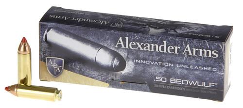 Alexander Arms AB300FTXBX Rifle Ammo 50 Beowulf 300 gr Hornady FTX Polymer Tip 20rds
