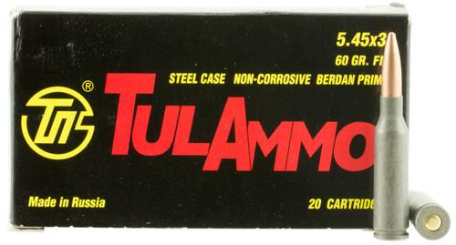 Tulammo TA545390 Rifle 5.45x39mm 60 gr Full Metal Jacket (FMJ) 20rds