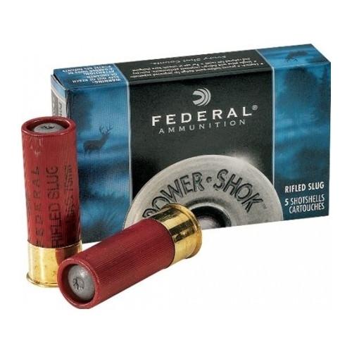 "FULL CASE - Federal Power-Shok 12 Gauge Ammo 2-3/4"" 1oz. Hollow Point Slug - 5rds"
