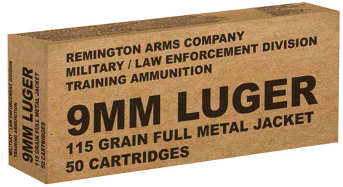 FULL CASE - Remington Ammunition B9MM3 Overrun9mm Luger 115 GR Full Metal Jacket (FMJ) 500rds - SLIGHTLY DAMAGED RETAIL PACKAGING BECAUSE REMINGTON SUCKS AT SHIPPING CASES