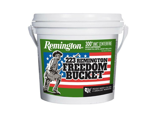 FULL CASE Remington Freedom Bucket 223 Remington 55 Grain FMJ 1200 Rounds