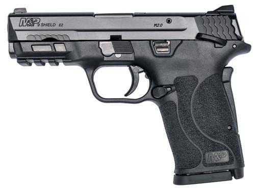 "Smith & Wesson 12436 M&P Shield EZ M2.0 9mm Luger 3.68"" 8+1 Black Black Armornite Stainless Steel Slide Black Polymer Grip"