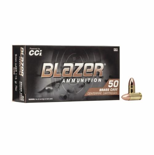 Half Case - CCI 5200 Blazer Brass 9mm Luger 115 gr Full Metal Jacket (FMJ) 500RDS - FAST SHIPPING
