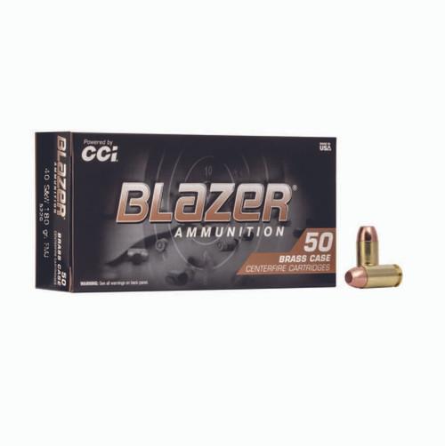 FULL CASE - CCI 5220 Blazer Brass 40 S&W 180 gr Full Metal Jacket (FMJ) 1000rds