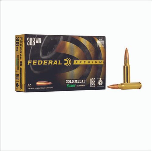 Madison Gold & Guns Federal Gold Medal Sierra MatchKing 308 Win 168GR