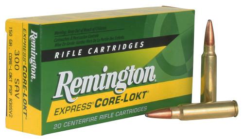 Remington Ammunition 21465 Core-Lokt 300 Savage 150 gr Core-Lokt Pointed Soft Point (PSPCL) 20rds