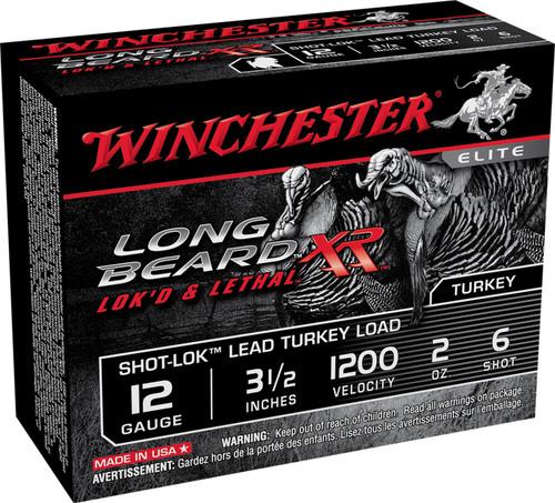 "Winchester Ammo STLB12L6 Long Beard XR Shot-Lok 12 Gauge 3.5"" 2 oz 6 Shot 10rds"