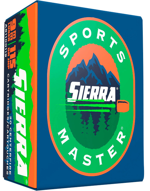 Sierra A812420 Outdoor Master 9mm Luger 124 gr Jacket Hollow Point Sport Master 20rds