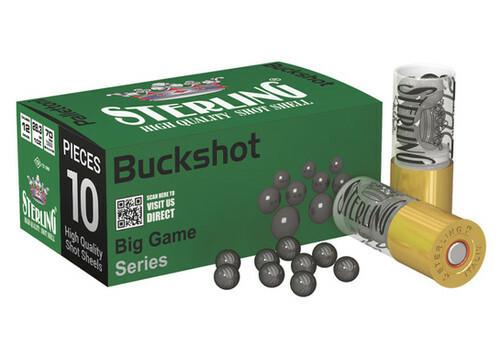 FULL CASE - Sterling 12 Gauge 2-3/4″ Big Game Series 9 Pellet #00 Buckshot - 200rds